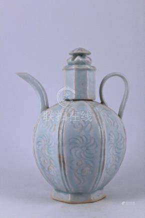 Qing Ying Qing Porcelain Teapot with Lid