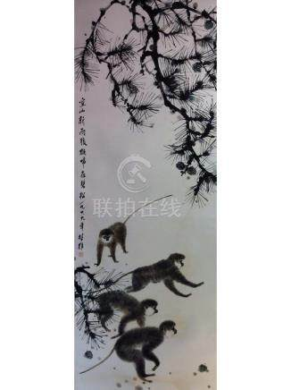 Chinese painting hanging leaf.