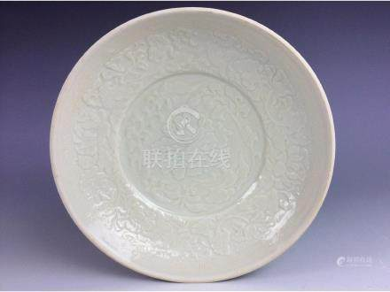 Chinese white glaze porcleian plate