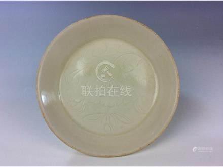 Chinese Ding kiln white glaze porcelain saucer