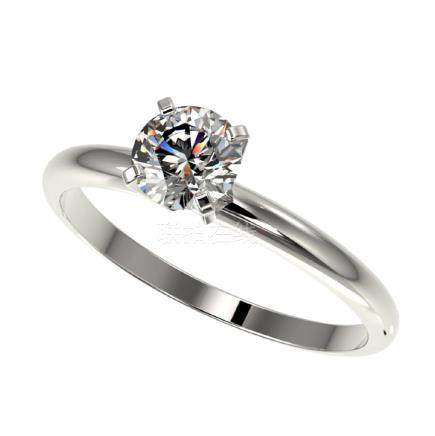 0.76 CTW H-SI/I Quality Diamond Solitaire Ring Gold -