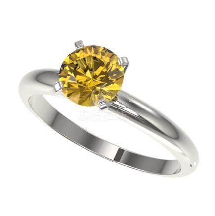 1.25 CTW Intense Yellow SI Diamond Solitaire Ring Gold