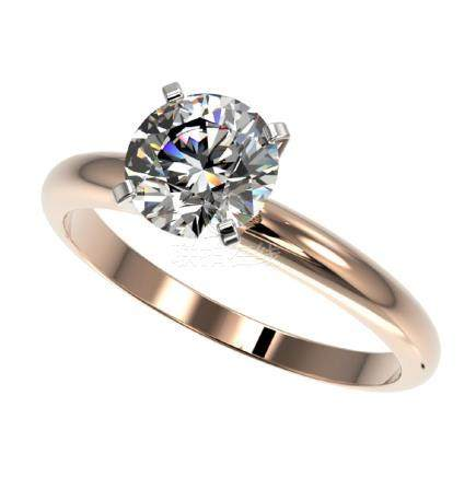 1.55 CTW H-SI/I Quality Diamond Solitaire Ring Gold -