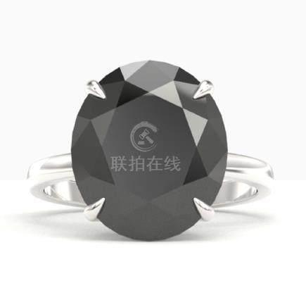 9 CTW Black VS/SI Diamond Engagement Ring 18K Gold -