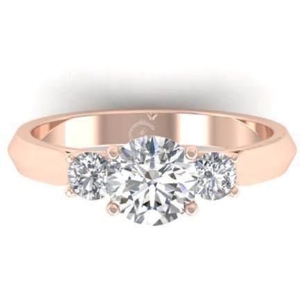 1.50 CTW VS/SI Diamond Solitaire 3 Stone Ring 18K Gold