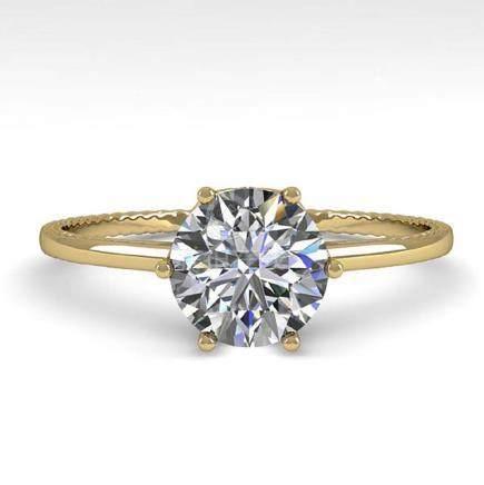 1.01 CTW VS/SI Diamond Art Deco Ring 14K Gold -