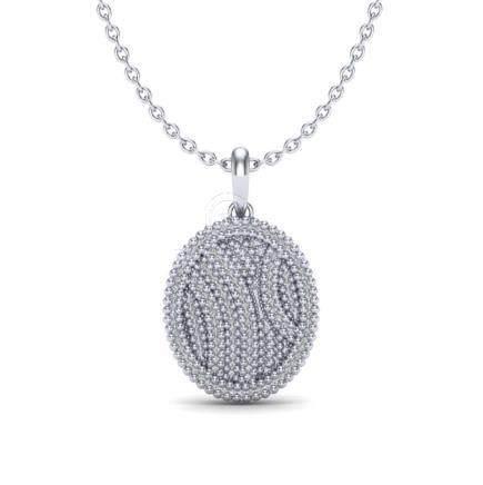 1 CTW VS/SI Diamond Necklace 14K Gold - REF-90W9G -