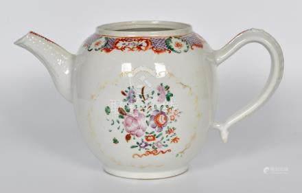清 粉彩茶壺