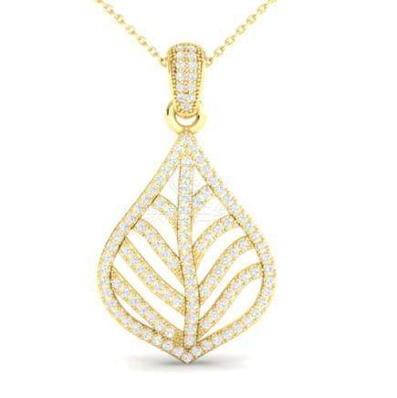 1.25 CTW VS/SI Diamond Necklace 18K Gold - REF-134V5Y -