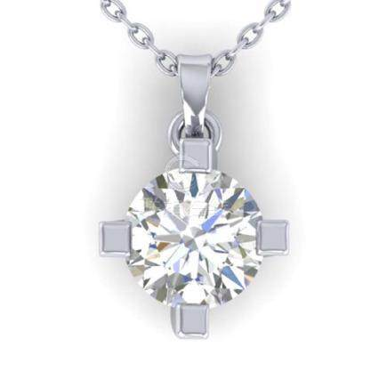 1 CTW VS/SI Diamond Solitaire Necklace 18K Gold -