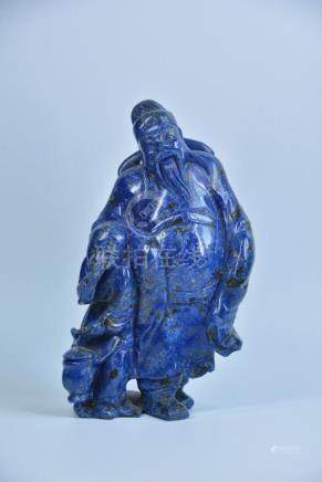 A LAPIS FIGURE OF LIBAI, QING DYNASTY