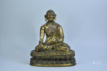 A BRONZE FIGURE, QING DYNASTY