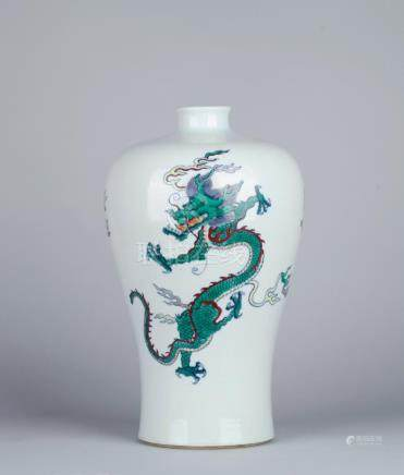 A DOUCAI 'DRAGON' MEIPING VASE, QING DYNASTY