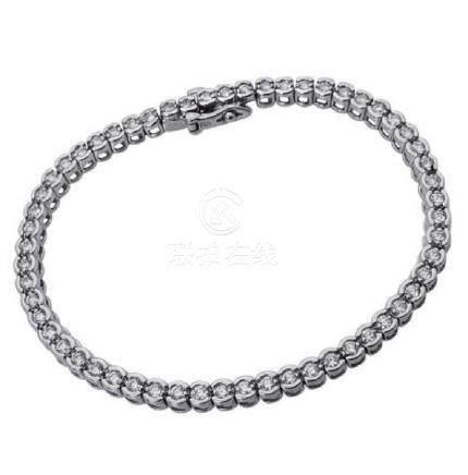 14k Gold 3.00 TCW Brilliant Diamond Tennis Bracelet