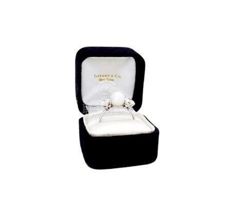 Tiffany & Co PT Round Brilliant  Diamond & Natural Ring