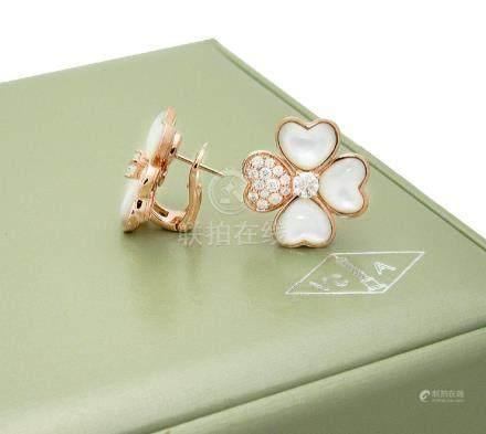 Van Cleef & Arpels Cosmos earrings, medium model