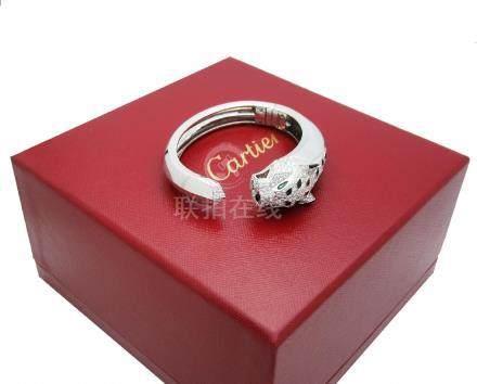 Cartier 18K 15.74tcw Diamond Emerald, Onyx Bracelet