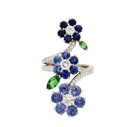 Van Cleef & Arpels Folie des Pres Sapphire Ring Size