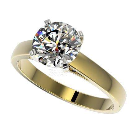 2.05 CTW H-I Quality Diamond Solitaire Ring Gold -