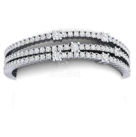 15 CTW VS/SI Diamond Love Bracelet 18K White Gold -