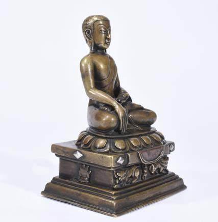 CHINESE METAL BUDDHA STATUE