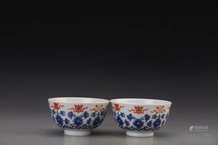 GUANGXV MARK, PAIR OF CHINESE FAMILLE ROSE BOWLS