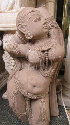 Stunning Carved Stone Indian Goddess Figure