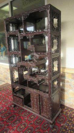 18th Century Chinese Zitain Antique Shelf
