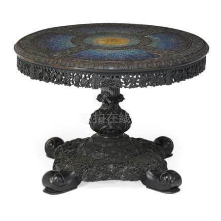 Qing Dynasty Zitan & Baoshi Mosai Jeweled Stars