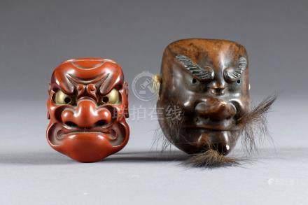Netsuké. Figurant le démon Beshimi, les lèvres pincées et à l'expression menaça