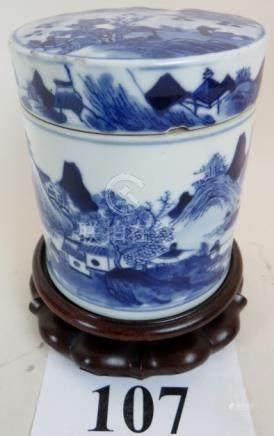 A Chinese Kangxi taste blue and white po