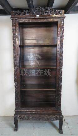 A Chinese hardwood display cabinet c.190