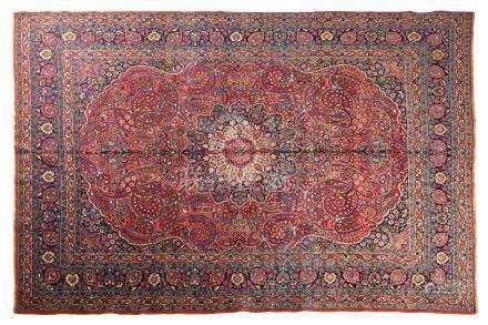 TABRIZ (Perse), 2e tiers du 20e siècle Une magnifique rosace végétalisée, polyl