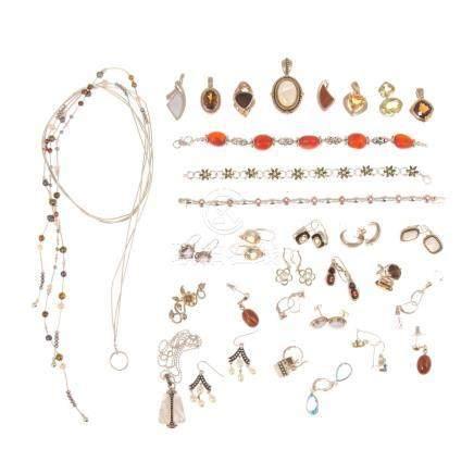 Assorted Ladies Gemstone Jewelry in Sterling