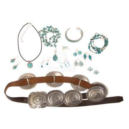 Ladies Turquoise Jewelry & Native American Belt