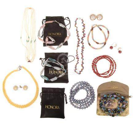 Ladies Honora Pearls & Other Jewelry