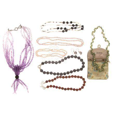 A Collection of Ladies Beaded Necklaces