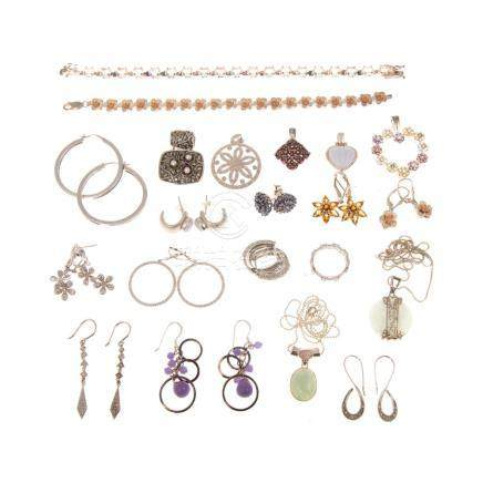 Collection Ladies Sterling & Multi-Stone Jewelry