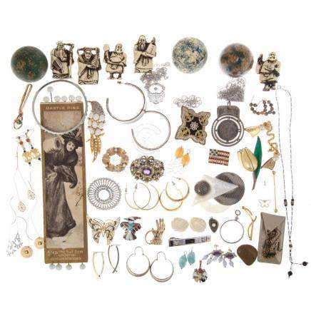 Collection of Costume Jewelry & Hat Pins