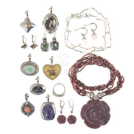Collection of Ladies Sterling Signature Jewelry