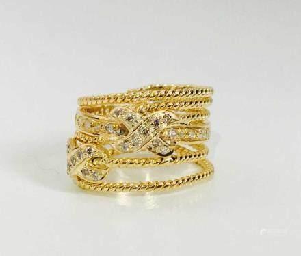 18k Gold, David Yurman Inspired Ring