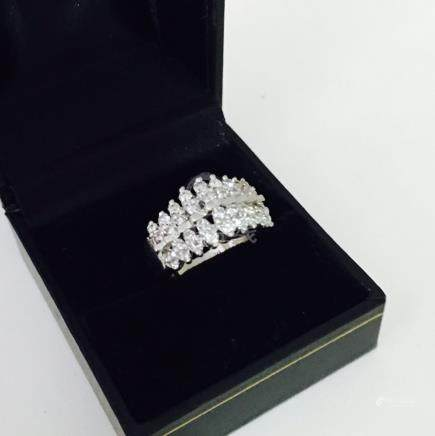 14k White Gold 1ct Diamond Band