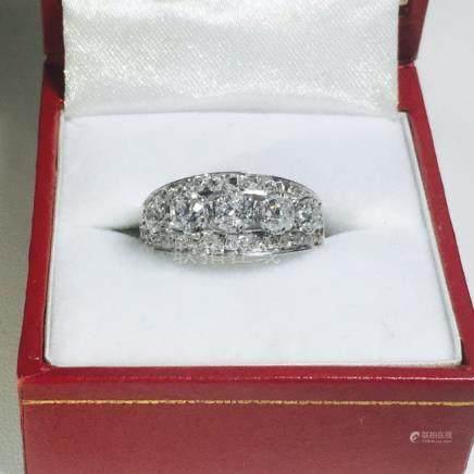 Vintage 18K White Gold, 1.25 CT VS/G Diamond Ring (GIA)