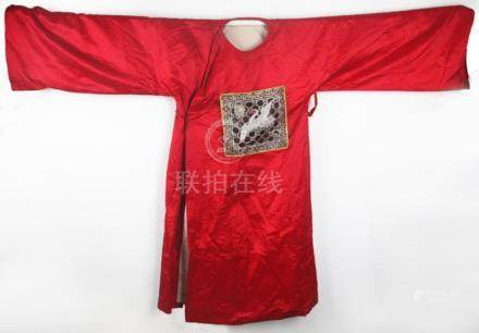A FINE RED COLOR ROYAL COURT ROBE
