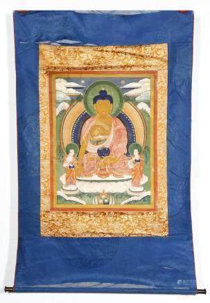 Chinese Thangka of Shakyamuni Buddha