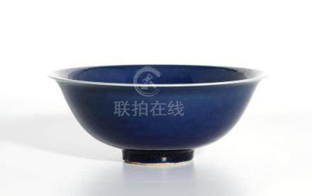 Chinese Blue Glazed Bowl