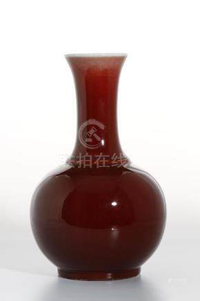 Chinese Oxblood Glazed Bottle Vase