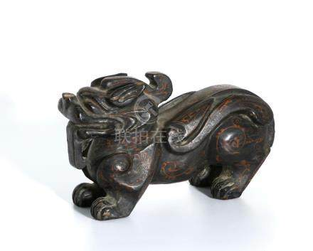 Chinese Wood Carving of a Mythical Beast