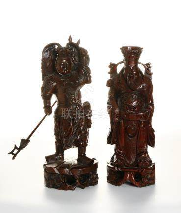 Two Hardwood Figures