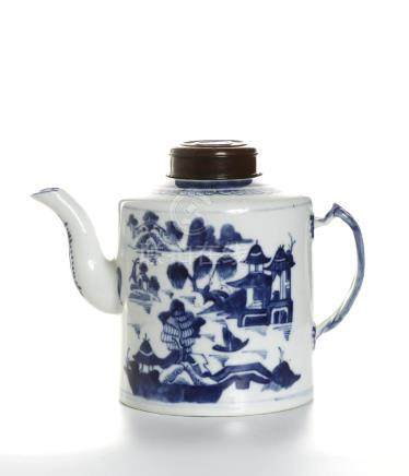 Chinese Blue and White Teapot